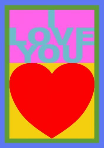 I Love You (replay Porfolio) by Peter Blake