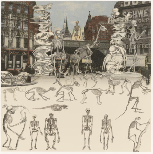 London- Ludgate Circus- Day Of The Skeletons by Peter Blake