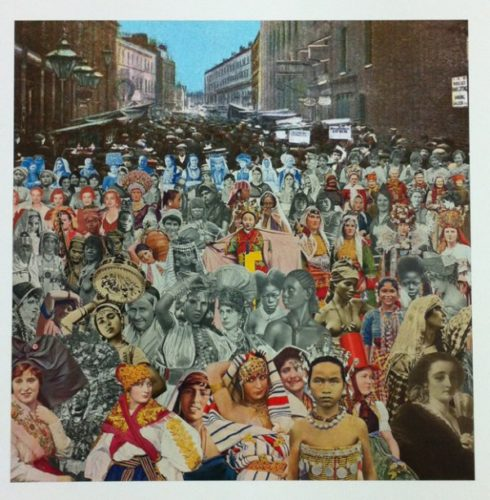 London- Petticoat Lane- One Hundred Women by Peter Blake