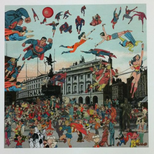 London- Piccadilly Circus- The Convention Of Comic Book Characters by Peter Blake