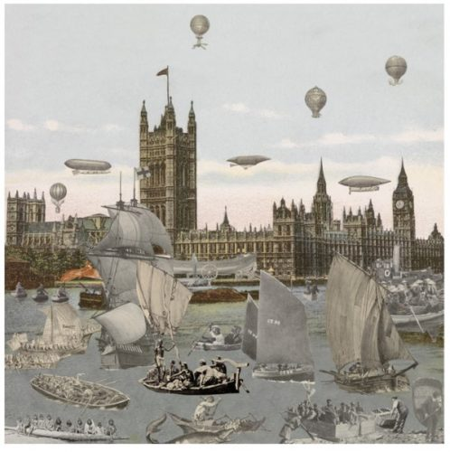 London- River Thames- Regatta 2012 by Peter Blake at