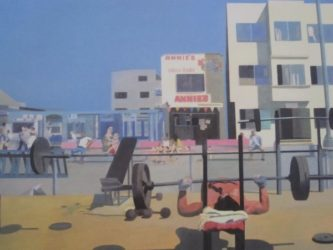 Madonna On Venice Beach 1 by Peter Blake at