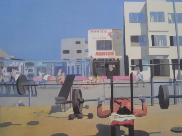 Madonna On Venice Beach 1 by Peter Blake