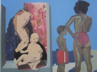 Madonna On Venice Beach 2 by Peter Blake at