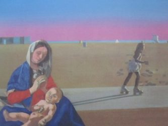 Madonna On Venice Beach 4 by Peter Blake at