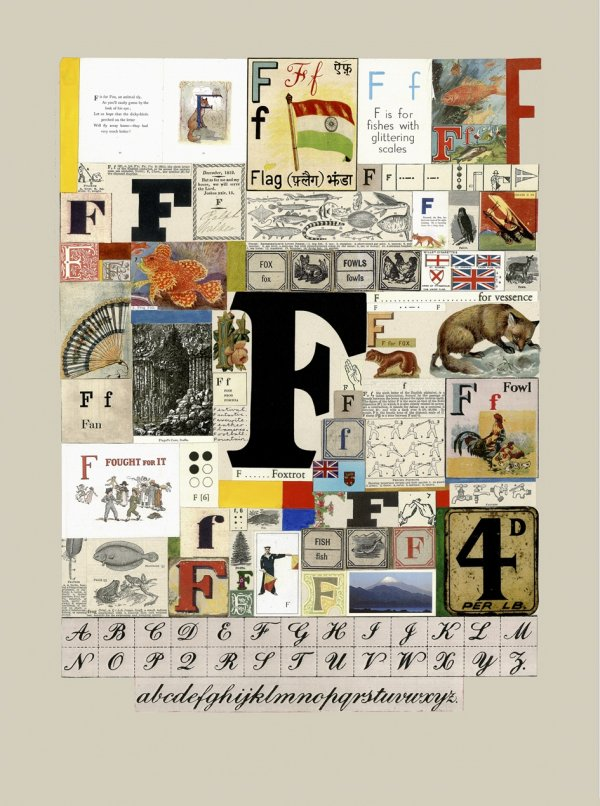 The Letter 'f' by Peter Blake