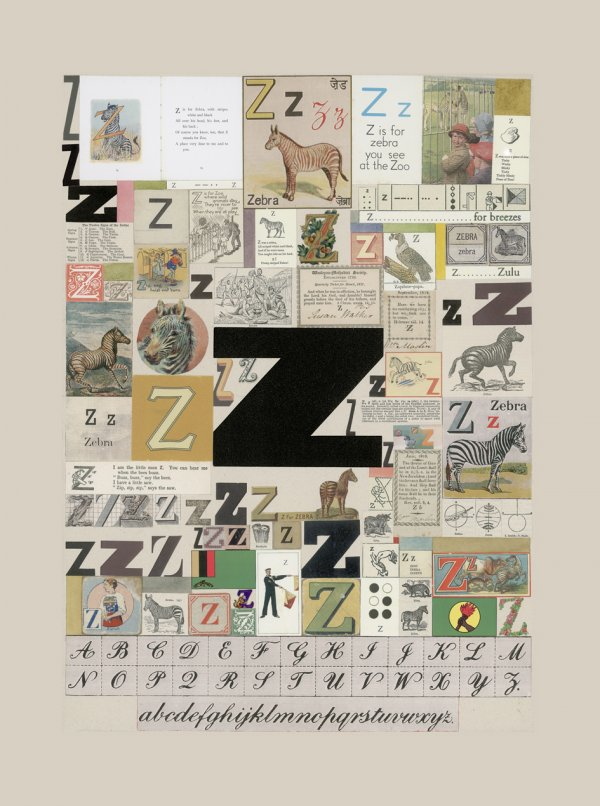 The Letter 'z' by Peter Blake