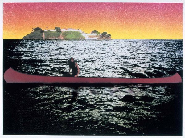 Canoe-island by Peter Doig