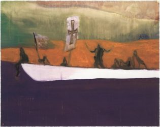 Untitled (canoe) by Peter Doig at