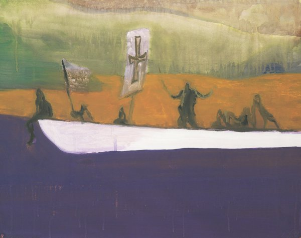 Untitled (canoe) by Peter Doig