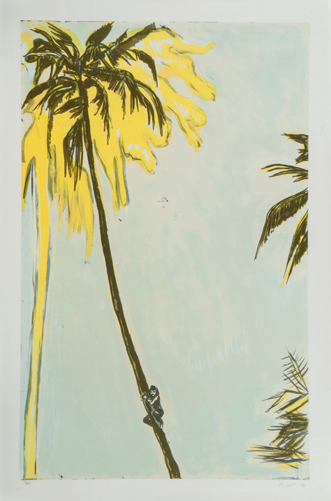 Untitled (palm) by Peter Doig