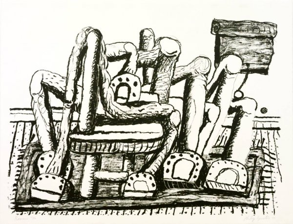 Room by Philip Guston at Susan Sheehan Gallery (IFPDA)