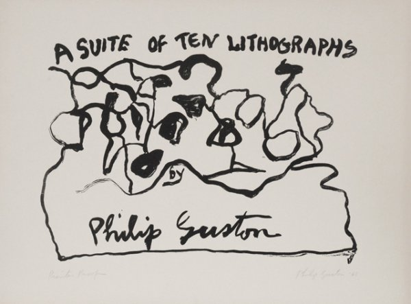 A Suite Of Ten Lithographs by Philip Guston