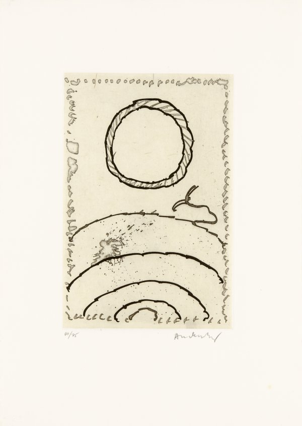 Cerclitude 01 by Pierre Alechinsky