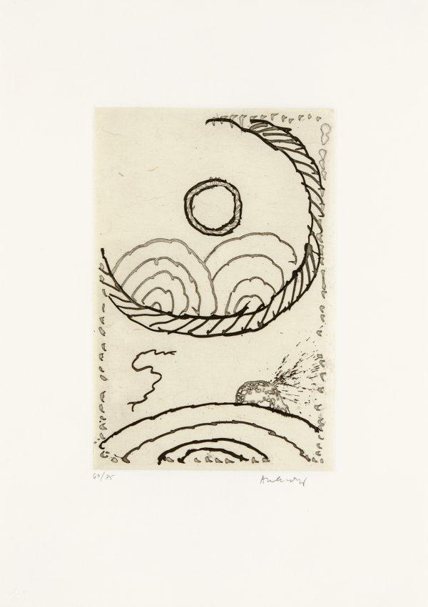 Cerclitude 05 by Pierre Alechinsky