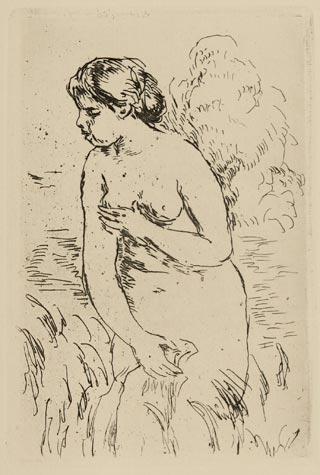 Baigneuse Debout à Mi-jambes by Pierre Auguste Renoir