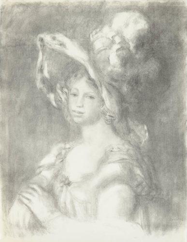 Jeune Femme En Buste (mademoiselle Dieterle) by Pierre Auguste Renoir