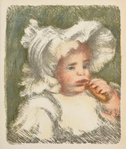 L'enfant Au Biscuit by Pierre Auguste Renoir at