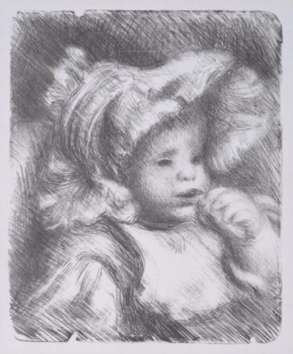 L'enfant Au Biscuit. Portrait Of Jean Renoir. 1898 by Pierre Auguste Renoir at William Weston Gallery (IFPDA)