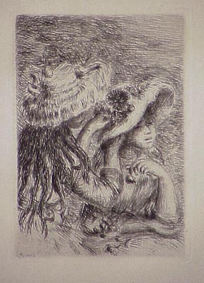 Le Chapeau épinglé, In Renoir Et Ses Amis by Pierre Auguste Renoir at