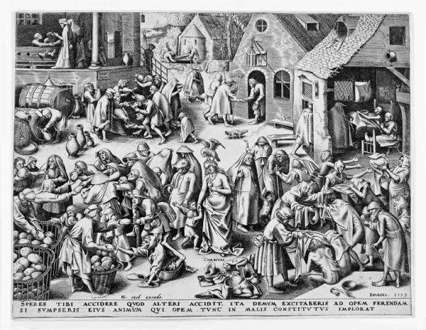 Charitas (charity) by Pieter Brueghel the Elder