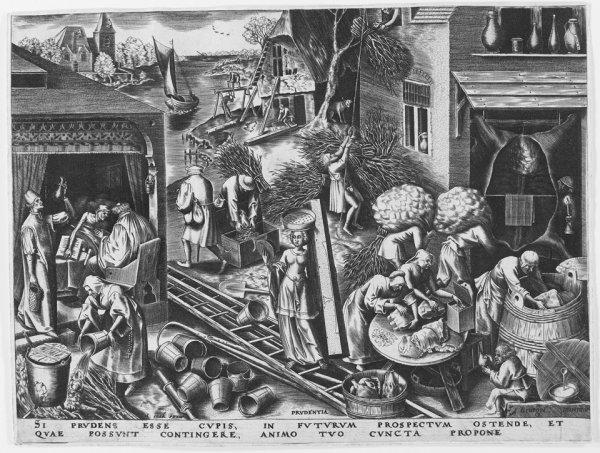 Prudentia (prudence) by Pieter Brueghel the Elder