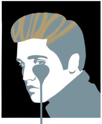 Elvis Presley Black by Pure Evil