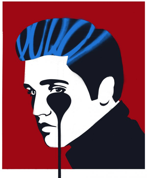 Elvis Presley Red by Pure Evil