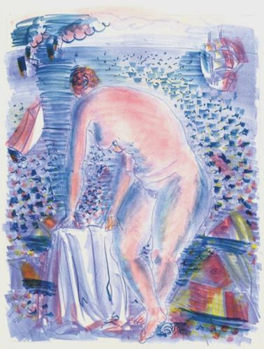 La Grande Baigneuse by Raoul Dufy at R. S. Johnson Fine Art (IFPDA)