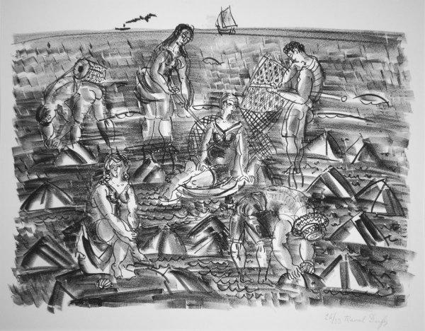 Pecheurs De Crevettes by Raoul Dufy at R. S. Johnson Fine Art (IFPDA)