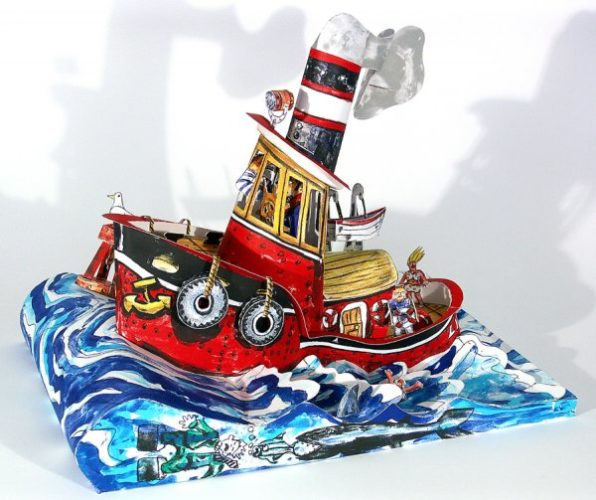"""ruckus Tugboat"" by Red Grooms"