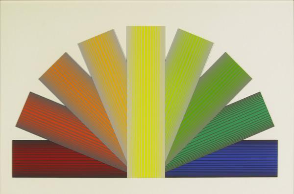 Grey Tinted Rainbow by Richard Anuszkiewicz