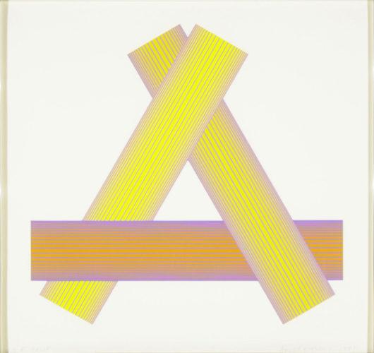Triangular Yellows by Richard Anuszkiewicz