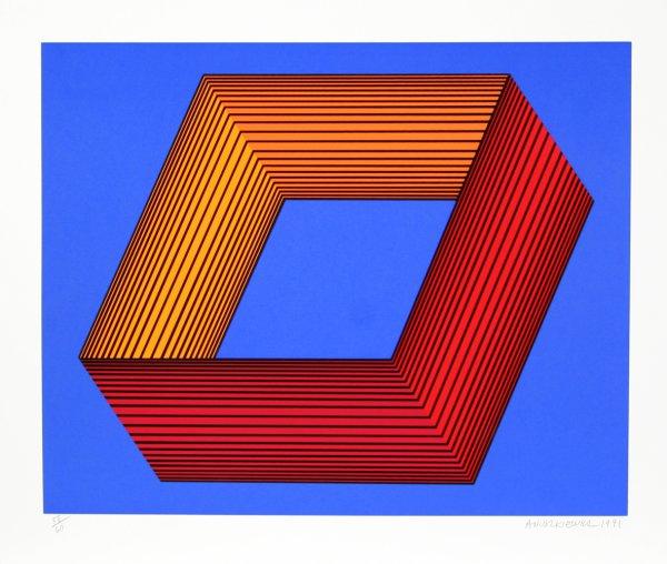 Untitled – Blue Ii by Richard Anuszkiewicz