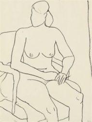 Seated Nude by Richard Diebenkorn at Susan Sheehan Gallery