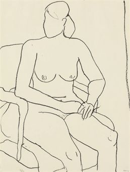 Seated Nude by Richard Diebenkorn at Susan Sheehan Gallery (IFPDA)
