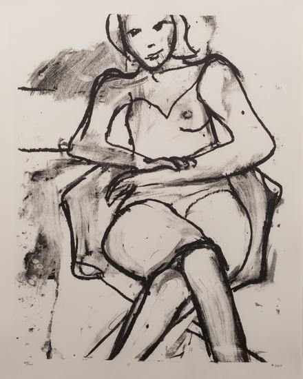 Seated Woman With Hands Crossed by Richard Diebenkorn
