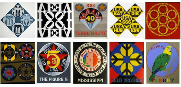 Decade Portfolio by Robert Indiana