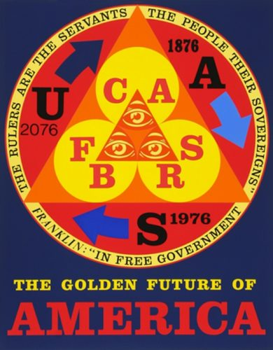 Golden Future Of America by Robert Indiana