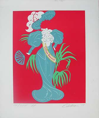 Lillian Russell by Robert Indiana at