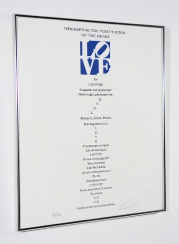 Love – 'wherefore The Punctuation Of The Heart' by Robert Indiana at PGR Fine Art