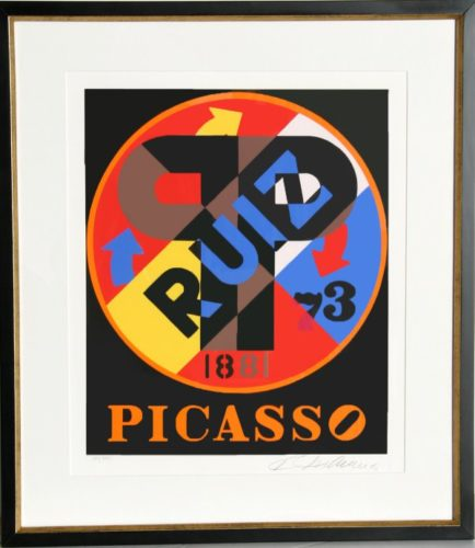 Picasso From The American Dream Portfolio by Robert Indiana at Robert Indiana