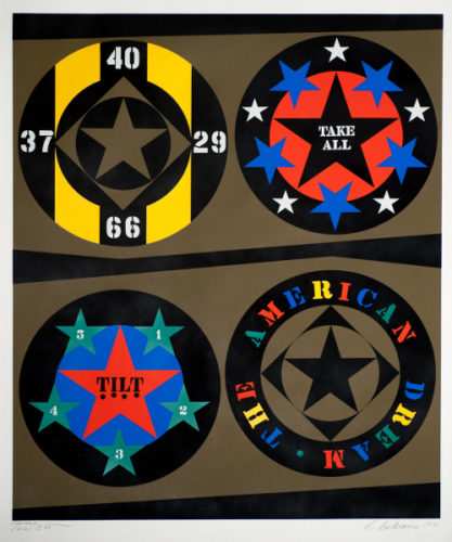 The American Dream (decade Series) by Robert Indiana at Robert Indiana