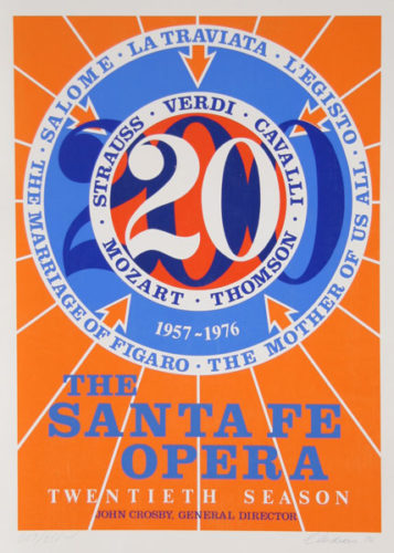 The Santa Fe Opera by Robert Indiana