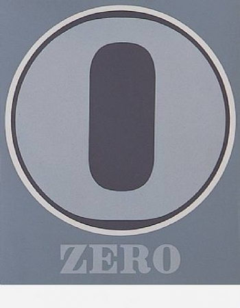 Zero by Robert Indiana at www.kunzt.gallery