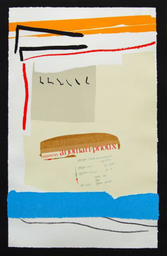 America-la France Variations Iii by Robert Motherwell