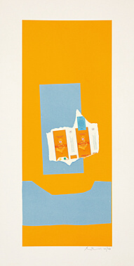 Harvest, With Blue Shadow by Robert Motherwell