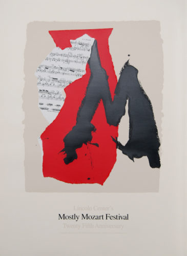 Lincoln Center Mostly Mozart, 25th Anniversary by Robert Motherwell