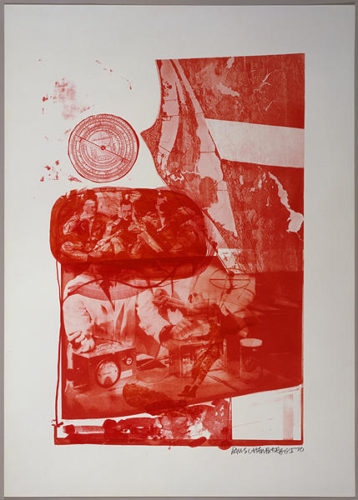 Ape, From Stoned Moon by Robert Rauschenberg