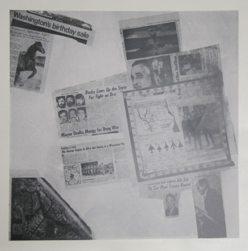 Features From Currents, #57 by Robert Rauschenberg